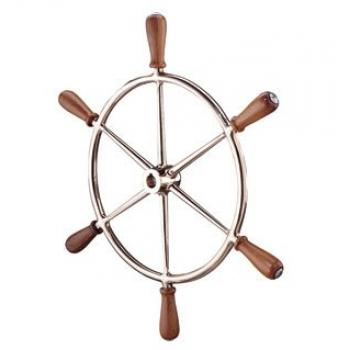 Edson Bronze Wheel with Teak Handles