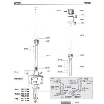 Harken ESP Unit 2 Furler Parts