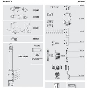Harken Mk IV Unit 2 Furler Parts