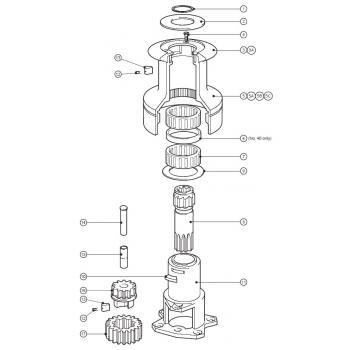Lewmar Size 40 Standard Winch Parts
