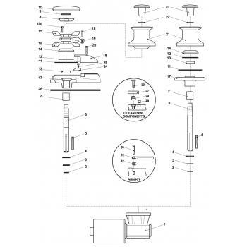 Lewmar Concept 1 Gypsy Drum Parts