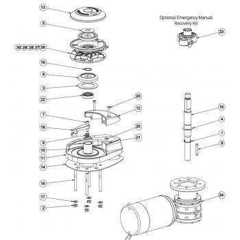 Lewmar CPX 1 Windlass Parts