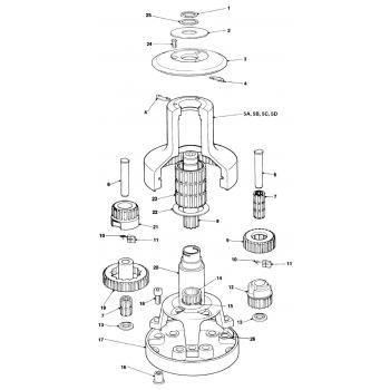 Lewmar Early Standard 52 Winch Parts