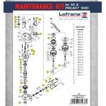 Lofrans Windlass Maintenance Kit for Project 1000