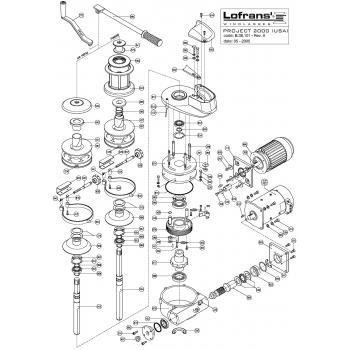 Lofrans Project 2000 Windlass Parts