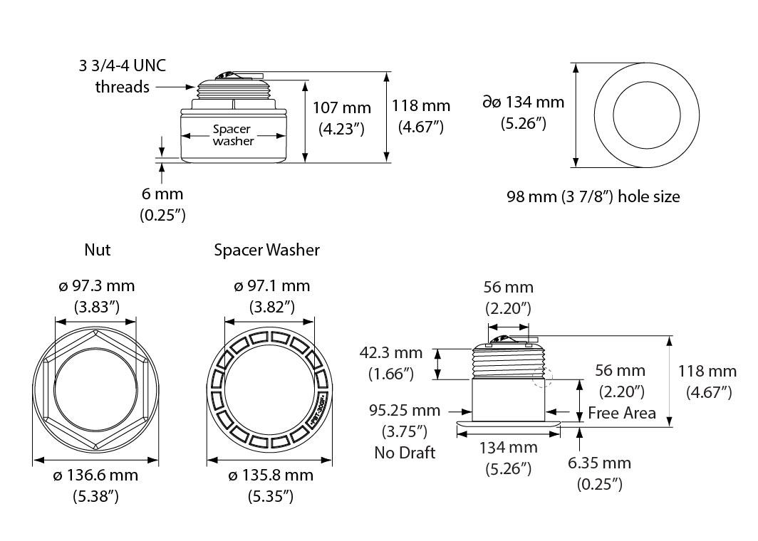 Airmar SS175 Chirp Transducer - Garmin 12-Pin - 12 Deg Medium
