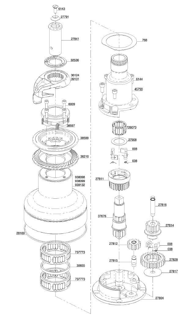 Harken Winch Parts - 44 2ST - 1999-2016