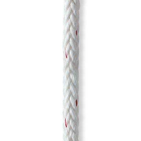 "Polyester Single Braid Rope 1//2/""  Regatta Braid Rope White per  foot"