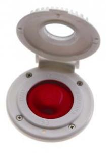 Imtra Low Amp Deck Switch w/ White Cover, Red Boot (Up)