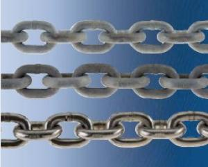 Acco 3/8in Stainless Steel Chain, Per Foot
