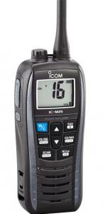Icom M25 Handheld VHF, Float&Flash, USB, 5 Watt, Gray